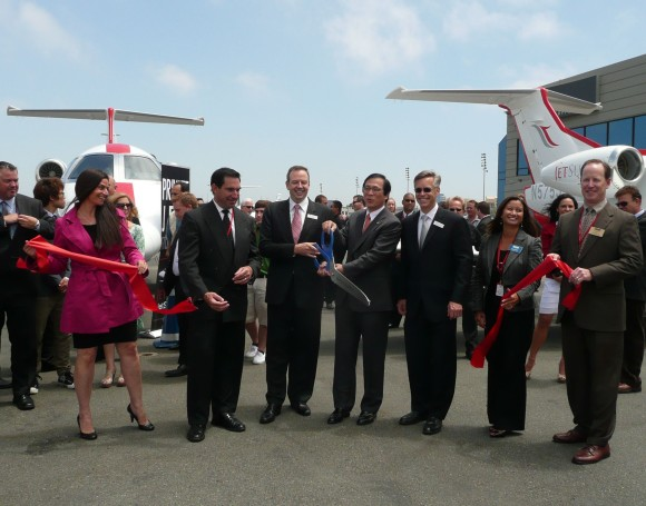JetSuite ribbon cutting with city officials and company executives